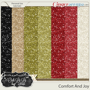 Comfort And Joy Glitter Sheets
