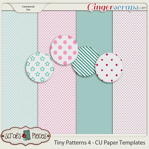 Tiny Patterns 4 CU Paper Templates - Scraps N Pieces