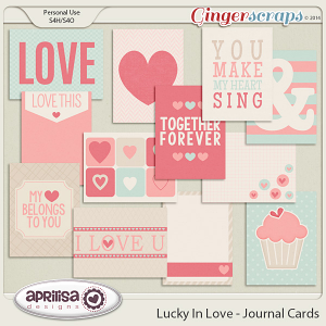 Lucky In Love - Journal Cards by Aprilisa Designs