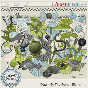 Down By The Pond Elements by CathyK Designs