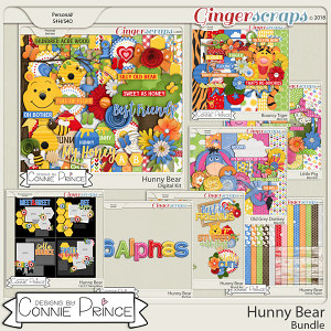 Hunny Bear- Core Bundle by Connie Prince