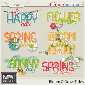 Bloom & Grow Titles by Aimee Harrison