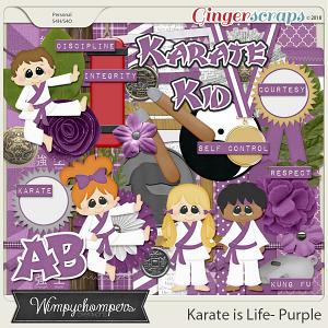 Karate is Life- Purple