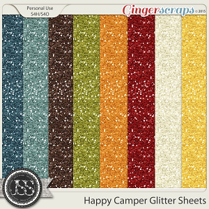 Happy Camper Glitter Sheets