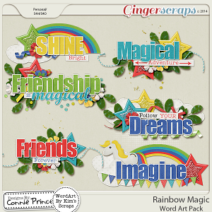 Rainbow Magic - Word Art