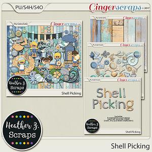 Shell Picking BUNDLE by Heather Z Scraps