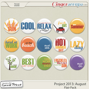 Project 2013:  August  - Flair Pack