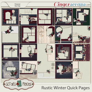 Rustic Winter Quick Pages