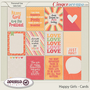 Happy Girls - Cards by Aprilisa Designs