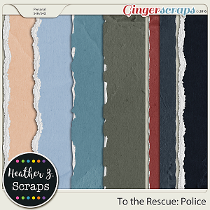 To the Rescue: Police TORN PAPERS by Heather Z Scraps