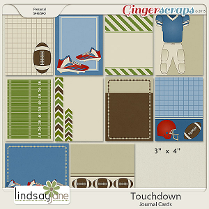 Touchdown Journal Cards by Lindsay Jane
