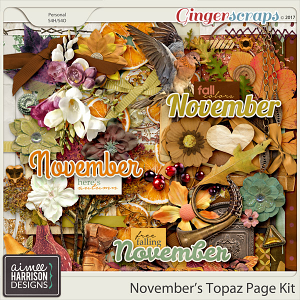 November's Topaz Page Kit by Aimee Harrison