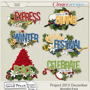 Project 2013:  December - WordArt Pack