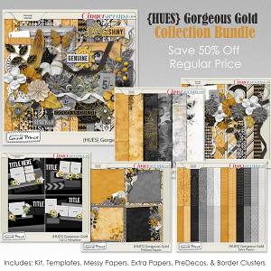 {HUES} Gorgeous Gold - Bundle