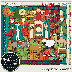 Away in a Manger KIT by Heather Z Scraps