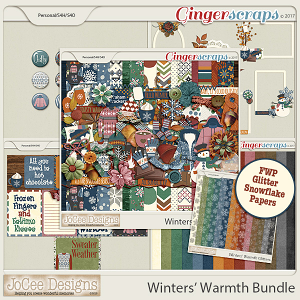 Winters' Warmth Collection with FREE WITH PURCHASE Snowflake Glitter Papers
