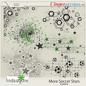 More Soccer Stars Scatterz by Lindsay Jane