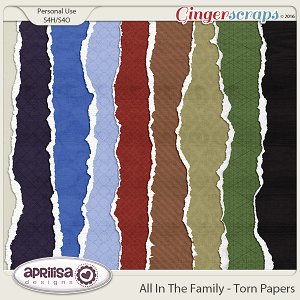All In The Family - Torn Papers by Aprilisa Designs