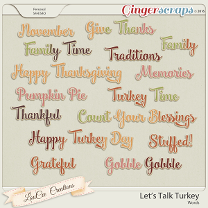 Let's Talk Turkey Words