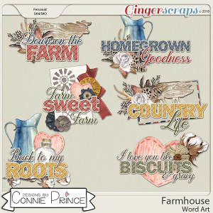 Farmhouse - WordArt Pack by Connie Prince