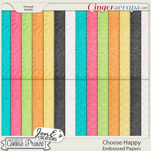 Choose Happy - Embossed Papers