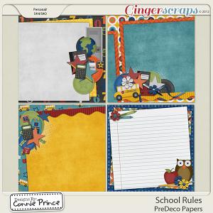 Retiring Soon - School Rules - PreDeco Papers