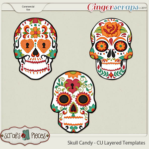 Skull Candy CU Layered Templates - Scraps N Pieces
