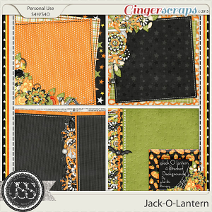 Jack O Lantern Stacked Backgrounds