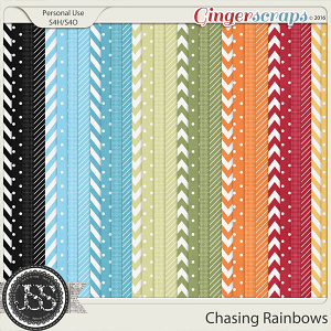 Chasing Rainbows Patterned Papers