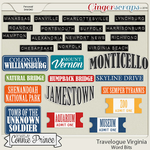 Travelogue Virginia - Word Bits