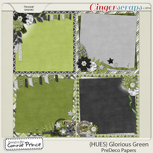 {HUES} Glorious Green - PreDeco Papers