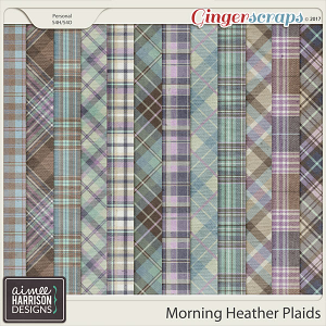 Morning Heather Plaid Papers by Aimee Harrison