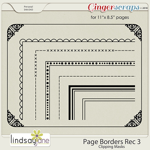 Page Borders Rec 3 by Lindsay Jane