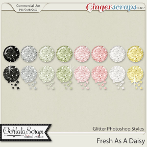 Fresh As A Daisy CU Glitter Photoshop Styles