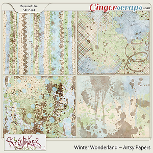 Winter Wonderland Artsy Papers