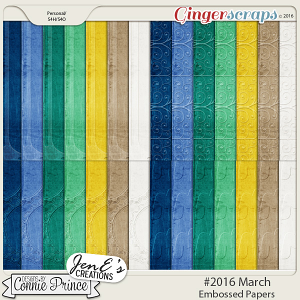 #2016 March - Embossed Papers