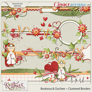 Booboos & Ouchies Clustered Borders