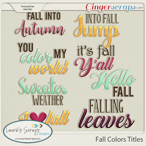 Fall Colors Titles