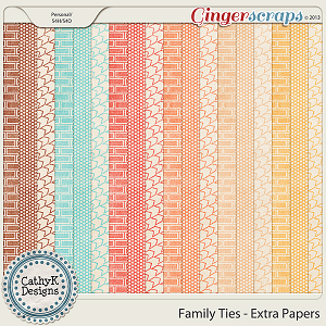 Family Ties Extra Papers: by CathyK Designs