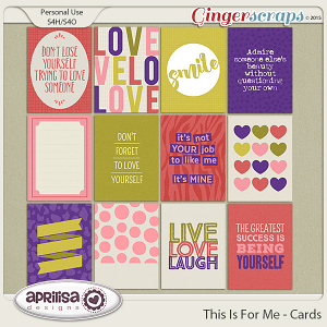 This Is For Me - Cards by Aprilisa Designs