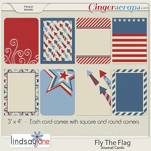 Fly The Flag Journal Cards by Lindsay Jane