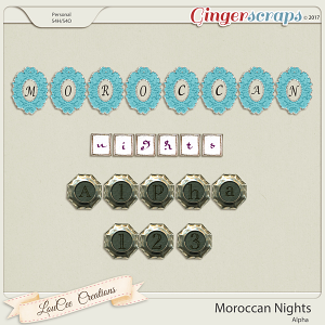 Moroccan Nights Alpha by LouCee Creations