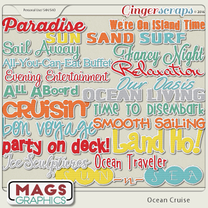 Ocean Cruise TITLES by MagsGraphics