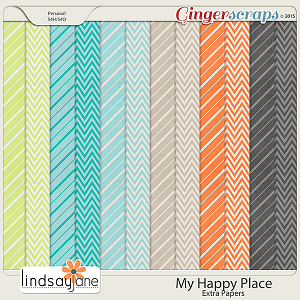 My Happy Place Extra Papers by Lindsay Jane