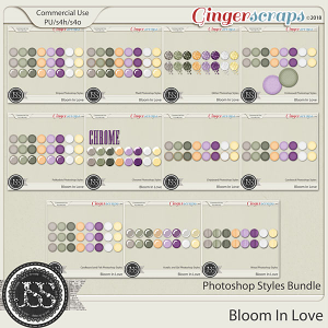 Bloom In Love CU Photohop Styles Bundle