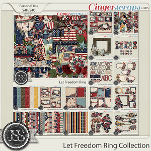 Let Freedom Ring Digital Scrapbooking Collection