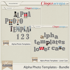 Alpha Photo Templates Bundle by JoCee Designs
