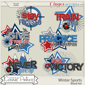 Winter Sports - WordArt Pack by Connie Prince