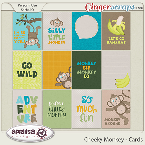 Cheeky Monkey - Cards by Aprilisa Designs