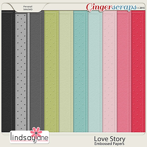 Love Story Embossed Papers by Lindsay Jane